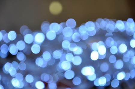 holiday background: Beautiful holiday background with Silver defocused lights Stock Photo
