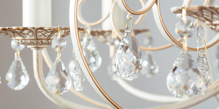 crystal chandelier: Classic lamp crystal light background Stock Photo