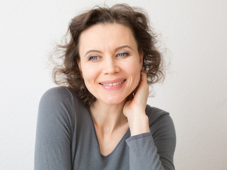 Happy woman with attractive smile