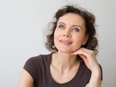 Close-up natural portrait of woman 30-40 years old Banque d'images