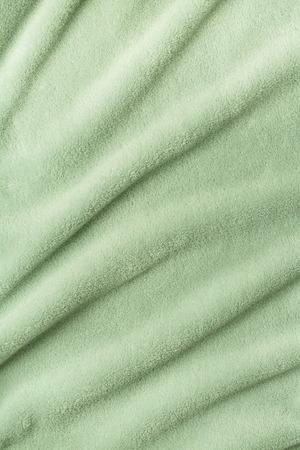 테리 목욕 타월 파도 배경 녹색 색상