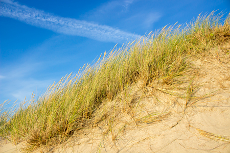 Steep Sandy Hill And Clear Blue Sky