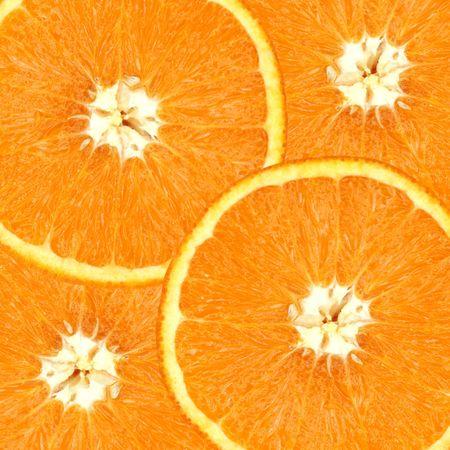 Four overlapping slices of orange. Stock Photo - 302093