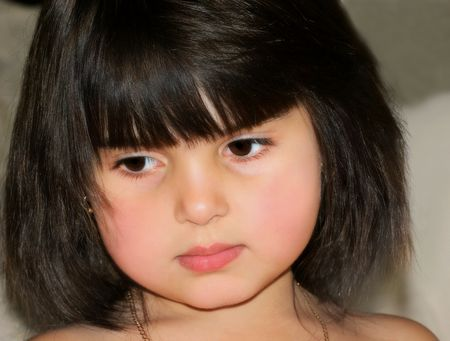 The face of a little girl. photo