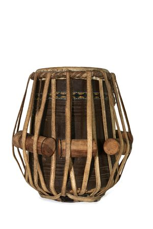 Tabla Indian drum against a white background. photo