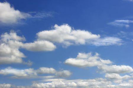 altocumulus: Sky and altocumulus clouds Stock Photo