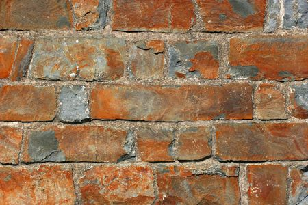 Old sand stone wall. photo