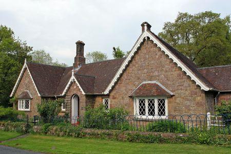 house gables: Puerta de la casa vieja pintoresca. Foto de archivo