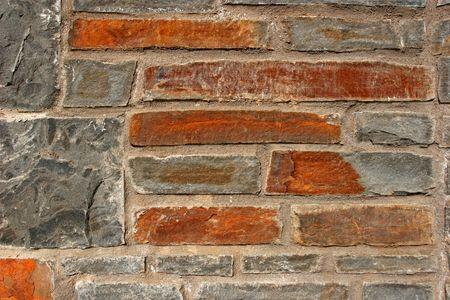 Old sand stone amd granite wall. photo