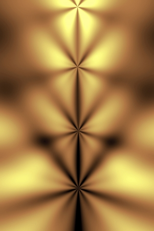 Abstract in gold and burnished copper of chakras, spiritual energy power centers, on a human body. Stock Photo - 594776