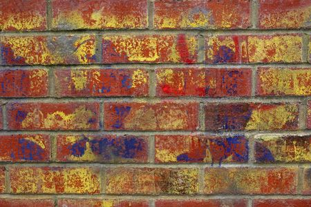 graffiti brown: Urbano graffiti en una pared de ladrillo rojo.  Editorial