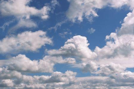 altocumulus: Altocumulus clouds in a blue sky