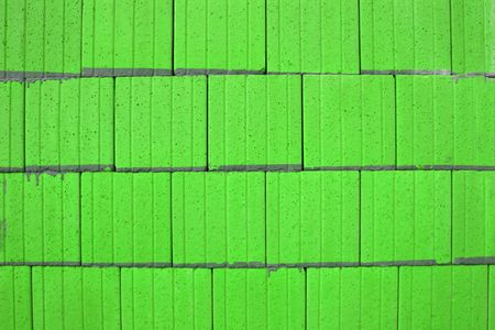 ridged: Abstract in lime green of ridged tiling.