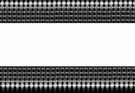 titanium: Abstract illustration of silver and black mesh on a horizontal axis with a white central section.