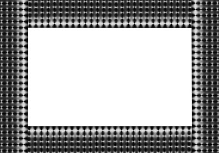 Silver grey and white abstract mesh border with rectangular white center. Stock Photo - 1778626