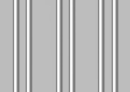 Abstract of six vertical silver bars against a silver grey background. photo