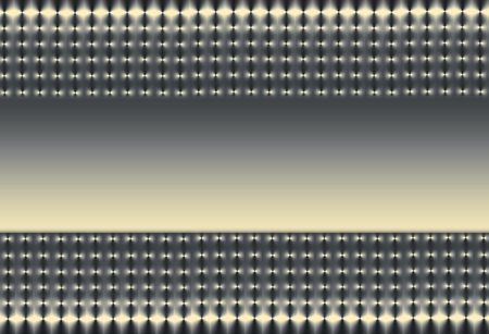 Abstract illustration of two sections of silver grey, gold and black mesh on a horizontal axis with a gold and grey gradient central section. illustration
