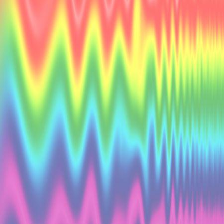 pulses: Abstract of rainbow spectrum in zig zag vertical pulse design. Stock Photo