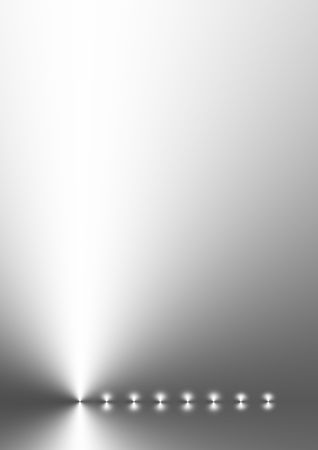 Silver grey gradient abstract with eight points of light in a horizontal line. photo