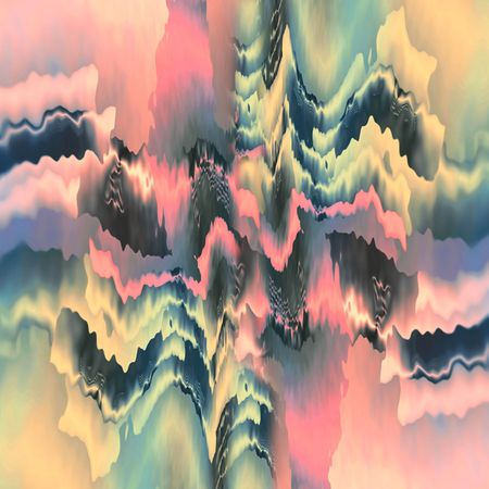 ethereal: Abstract ethereal forms in shades of dark silver, green, pink and gold. Stock Photo
