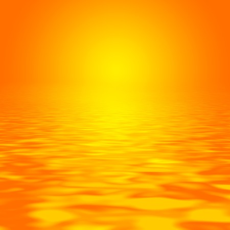 rippled: Abstract of a vivid golden sunset over rippled water.