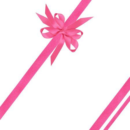 lazo rosa: Lazo rosado de sat�n y arcos sobre fondo blanco.