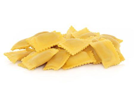 Ravioli pasta isolated over white background. Stock Photo - 6698572