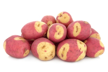 Apache potato group over white a background  Stock Photo - 17248865