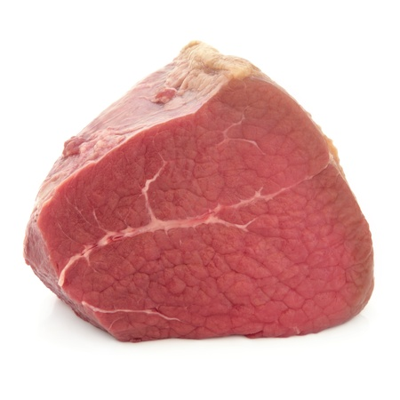 Fillet of beef meat joint over white background Stock Photo - 17817723