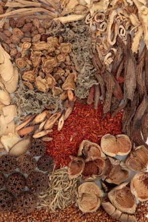 areca: Traditional chinese herbal medicine selection forming a background