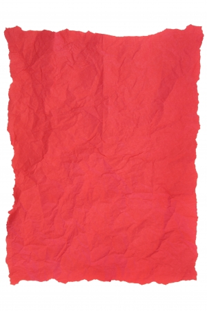 Creased red tissue paper over white background Stock Photo - 18305430