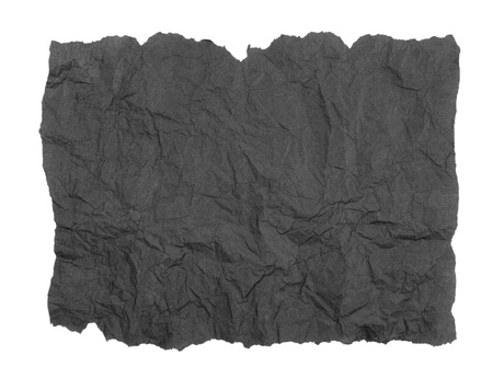 Torn grey tissue paper over white background Stock Photo - 19021640
