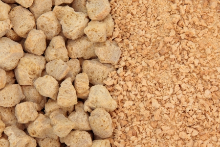 Soya chunks and flakes forming a background Stock Photo - 19754120