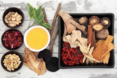 ginger flower plant: Traditional chinese herbal medicine ingredient selection with honey