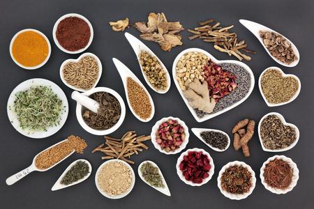 Guarigione selezione di erbe per le donne utilizzati in medicina alternativa naturale.