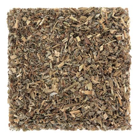 remedial: Borage leaf herb used in natural alternative herbal medicine over white background. Borago officinalis.