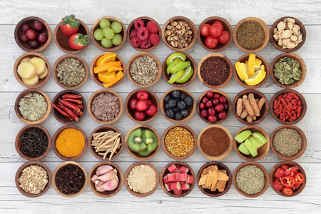 cold remedy: Large superfood selection for cold and flu remedy to boost immune system. High in antioxidants, anthocaynins, vitamins and minerals.