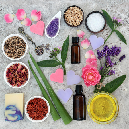 Natural ingredients for skin health care to help heal and soothe disorders such as eczema and psoriasis.