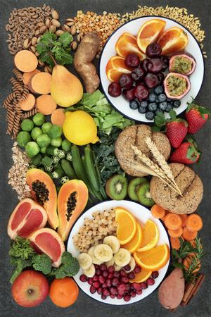 Healthy high fibre dietary food concept