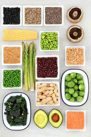 Healthy plant based protein food Stock Photo