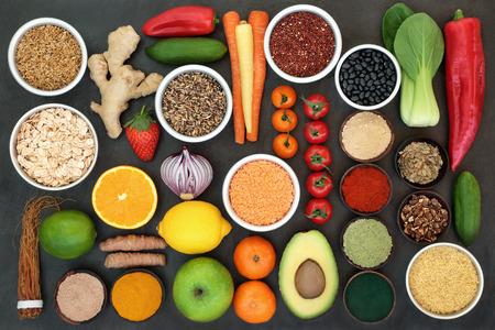 Concetto di super cibo detox per il fegato Archivio Fotografico