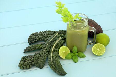 Health food vegetable smoothie juice