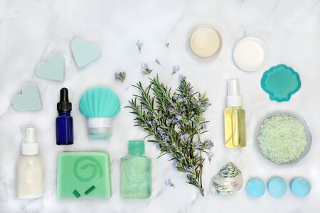 Rosemary Herb Skin Care Beauty Treatment With Cosmetic Products Stock Photo Picture And Royalty Free Image Image 134269272