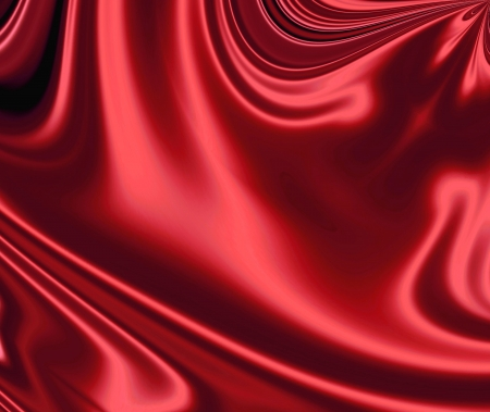 Smooth, luxuus and sensuous red satin  Stock Photo - 5330660