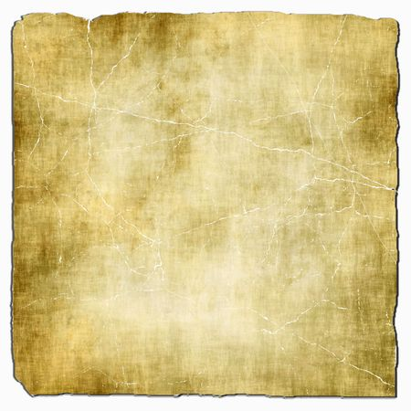 torned: Old Light Paper Isolated On White