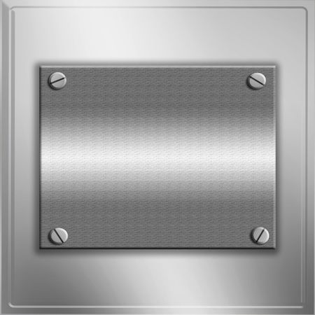 brushed aluminum: Metal Plates With Copy Space