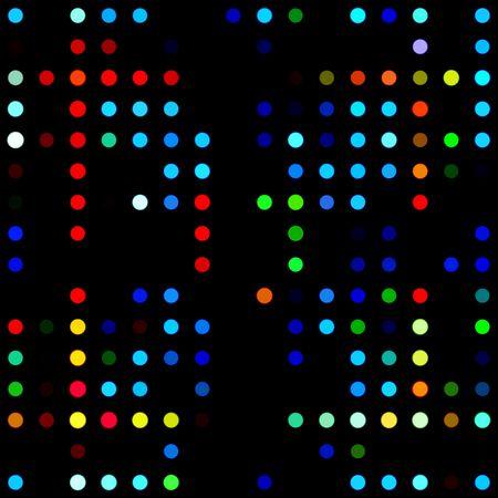 Colorful Seamless Lights On Black photo