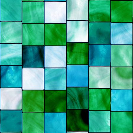 Seamless Blue And Green Tiles Background photo