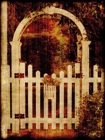 picket fence: Vintage Garden Gate