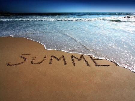 Einde van zomer  Stockfoto